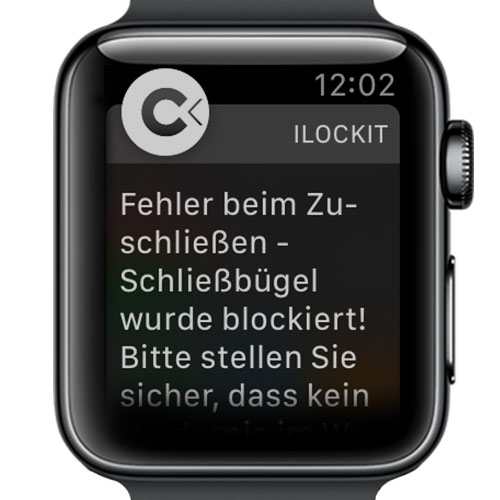 I LOCK IT App - AppleWatch - Mitteilung
